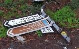 GALLERY: Appeal for information after thousands of Euro worth of damage done to sign-posts