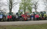GALLERY: Carlow/Laois students raise €1,200 for charity as they travel to school by tractor