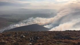 GALLERY: Over 40 brave firefighters battle gorse fires for thirteen hours on Mount Leinster