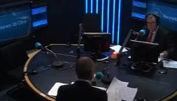 Micheál Martin at RTÉ's News at One studio