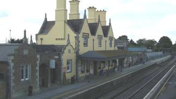 Irish Rail lodge planning for a roof canopy to the new passenger footbridge in Carlow Town