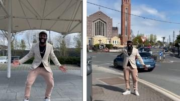 VIDEO: Popular Irish comedian Black Paddy tours Portlaoise streets