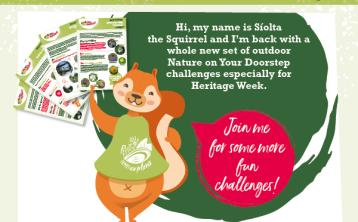 Síolta the Squirrel returns for Carlow Heritage Week