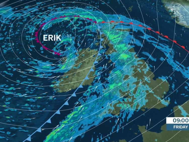 Storm Erik is on the way
